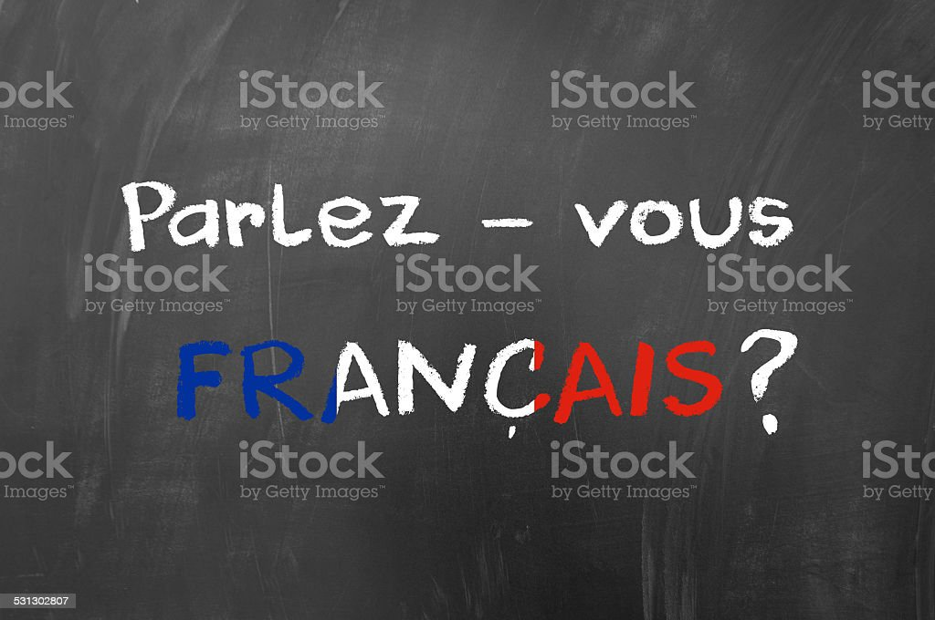 Parlez vous francais stock photo