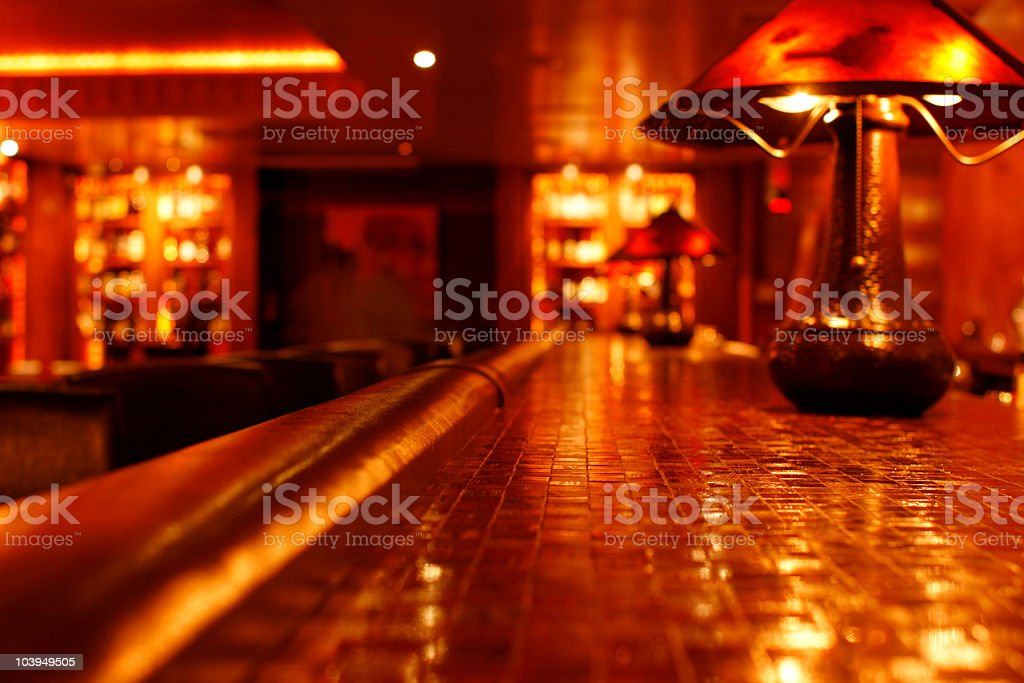 Speakeasy-Style Bar/Club - View From the Bartop stock photo