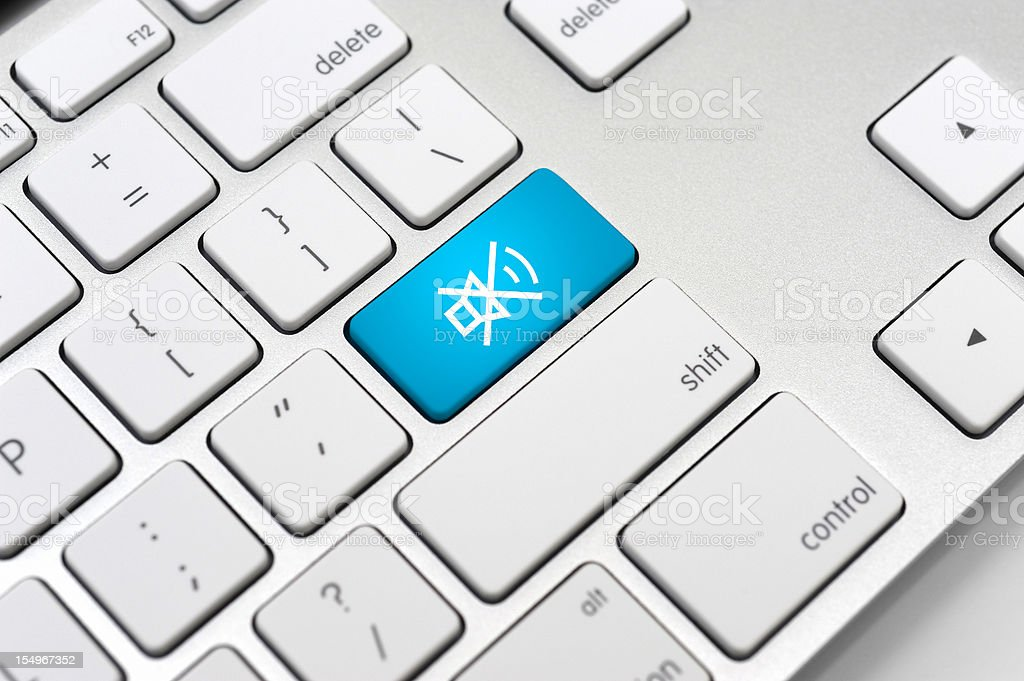 Speaker And Sound Icon On Computer Keyboard Stock Photo