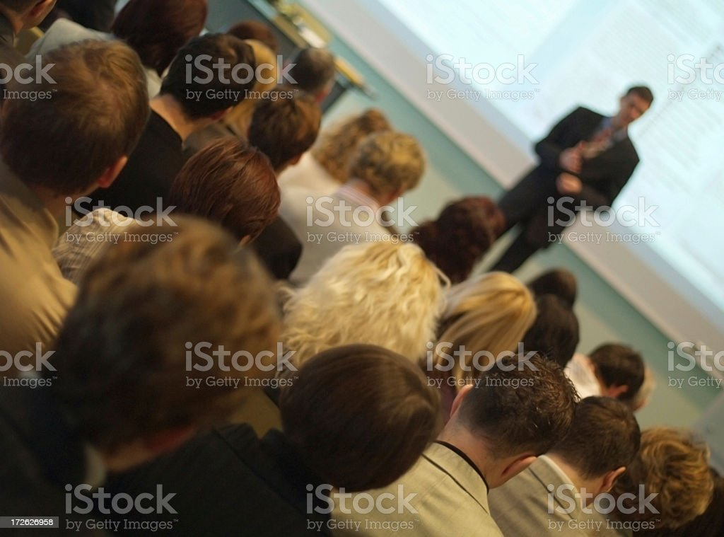 Speaker at a Business Conference royalty-free stock photo