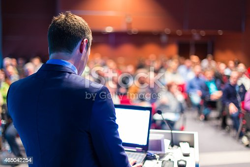 istock Speaker at Business Conference and Presentation. 465042254