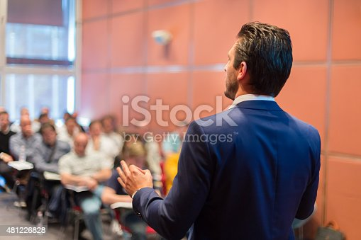 615804128 istock photo Speaker at Business Conference and Presentation. 481226828