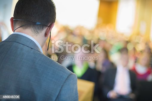 595328682 istock photo Speaker at Business Conference and Presentation. 486646206