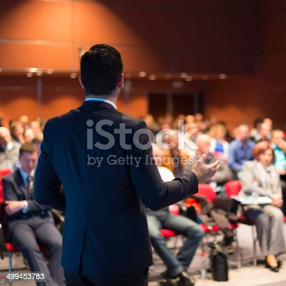 istock Speaker at Business Conference and Presentation. 499453783