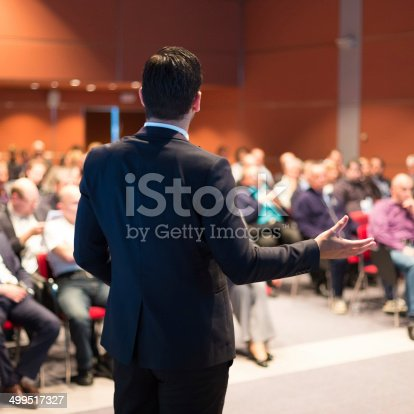 istock Speaker at Business Conference and Presentation. 499517327