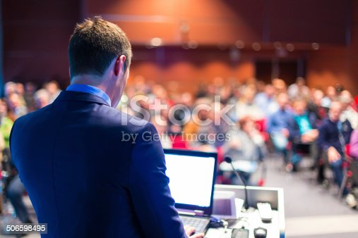 615804128 istock photo Speaker at Business Conference and Presentation. 506598495