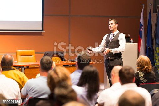 istock Speaker at Business Conference and Presentation. 522094189