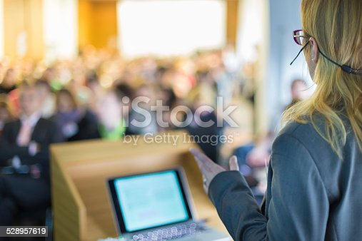 istock Speaker at Business Conference and Presentation. 528957619