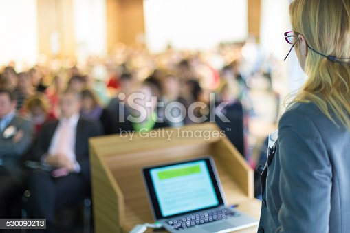 615804128 istock photo Speaker at Business Conference and Presentation. 530090213