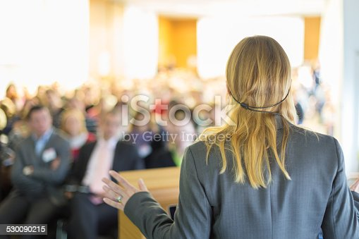 istock Speaker at Business Conference and Presentation. 530090215