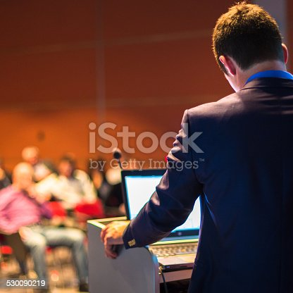 istock Speaker at Business Conference and Presentation. 530090219