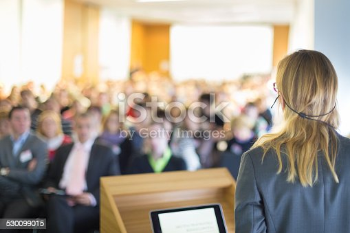istock Speaker at Business Conference and Presentation. 530099015