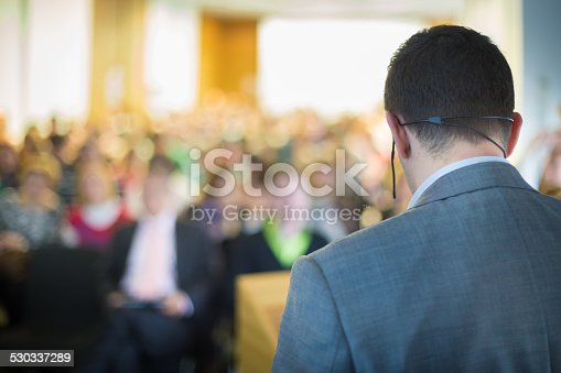 istock Speaker at Business Conference and Presentation. 530337289