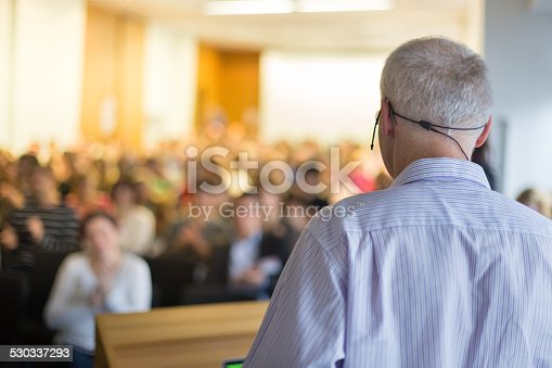 istock Speaker at Business Conference and Presentation. 530337293