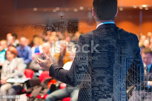 istock Speaker at Business Conference and Presentation. 635896258