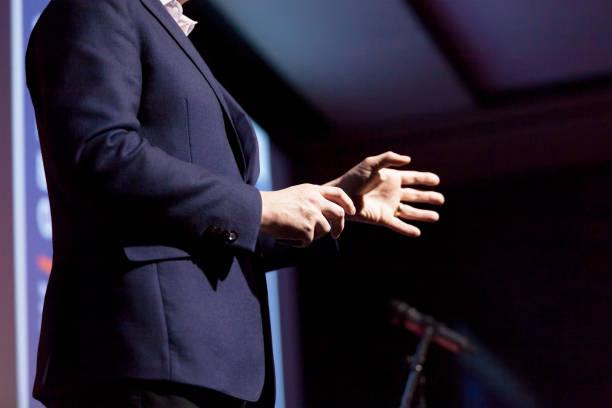 Referent bei Business-Konferenz oder Präsentation – Foto