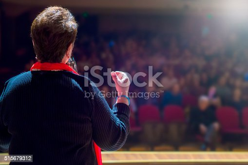 istock Speaker at Conference and Presentation 515679312