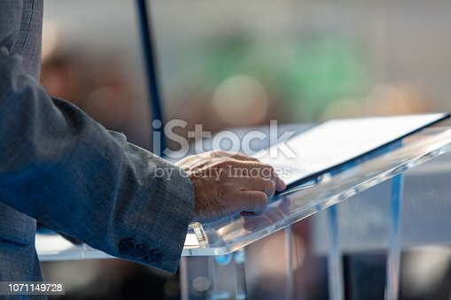 854811490 istock photo Speaker at presentation 1071149728