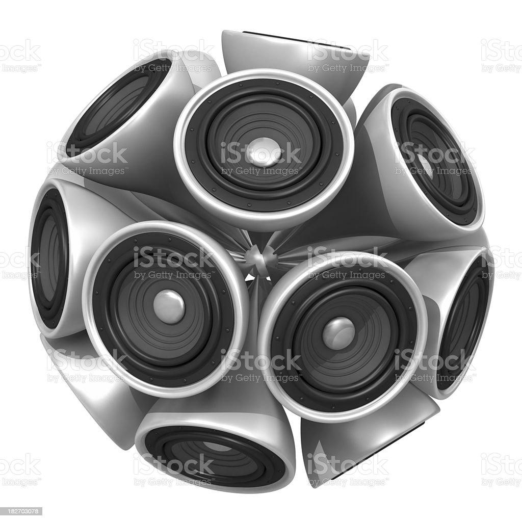 Speaker Ball royalty-free stock photo
