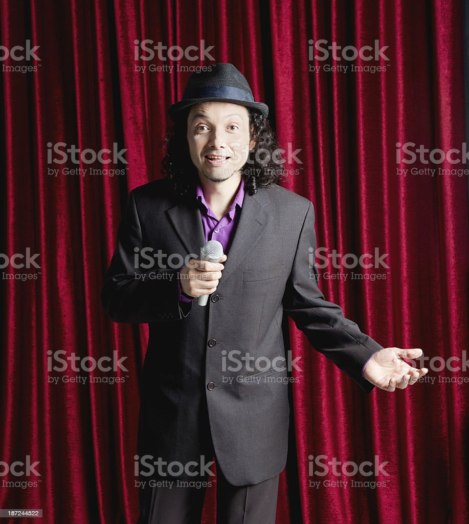 Speaker, comedian stock photo