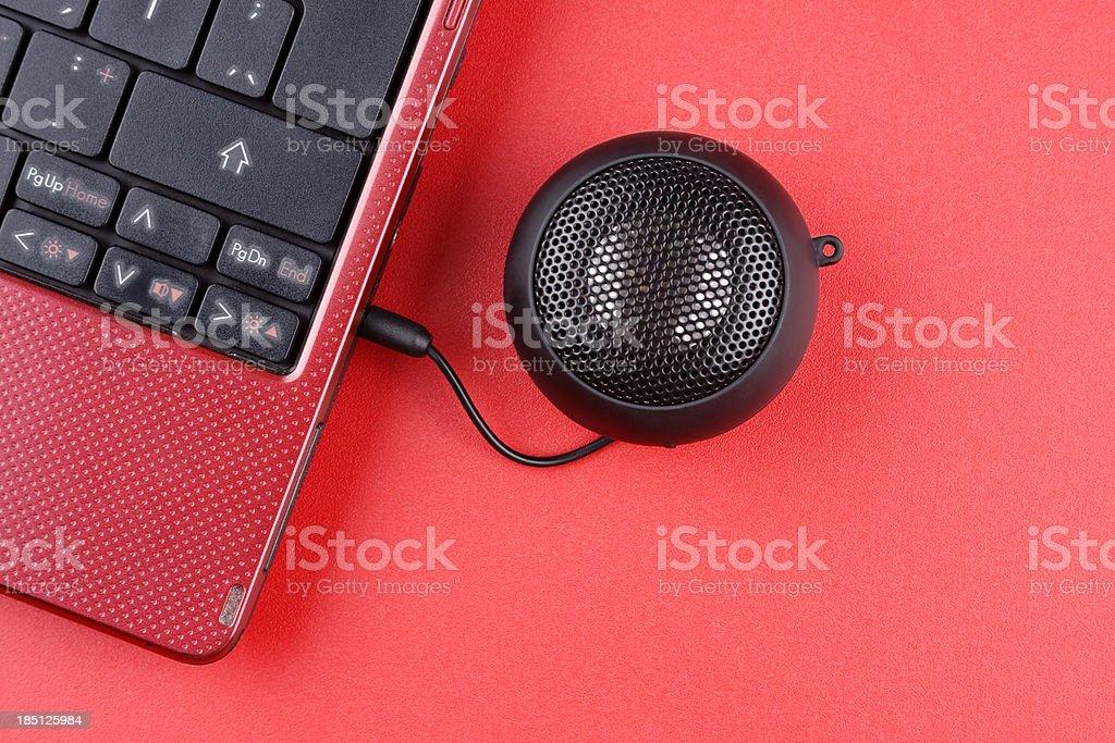 Speaker connection stock photo