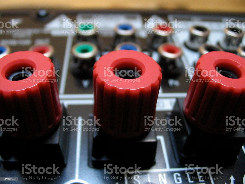 Speaker Connectors royalty-free stock photo