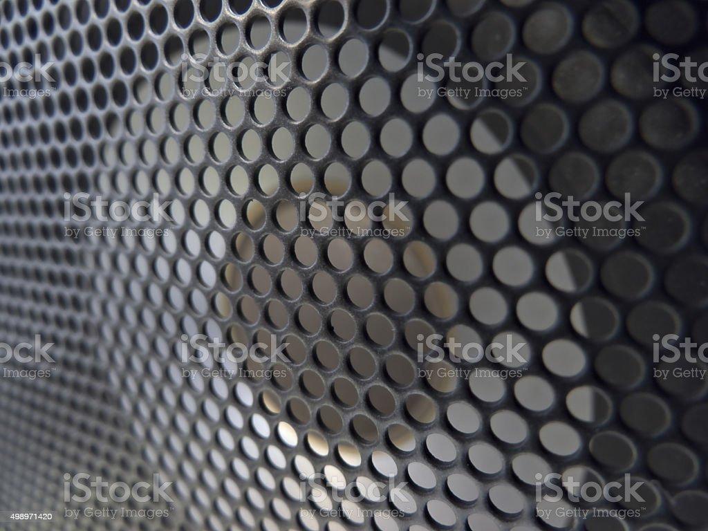 Speaker Driver & Grid Closeup stock photo