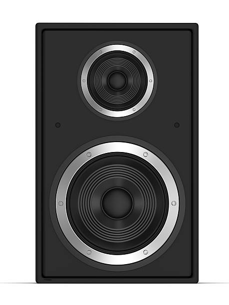 Speaker front view stock photo