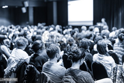 istock Speaker giving presentation on scientific business conference. 1175031702
