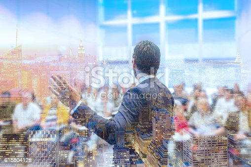 istock Speaker giving talk at Business Conference. 615804128