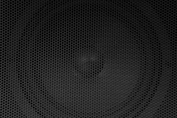 スピーカーグリル」 - altoparlante hardware audio foto e immagini stock