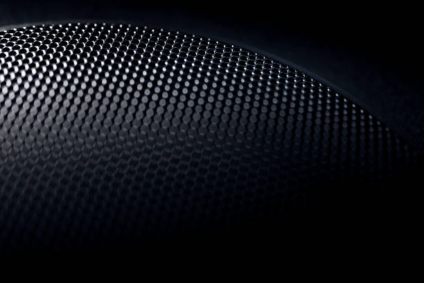 speaker grille - halftone pattern stock photos and pictures