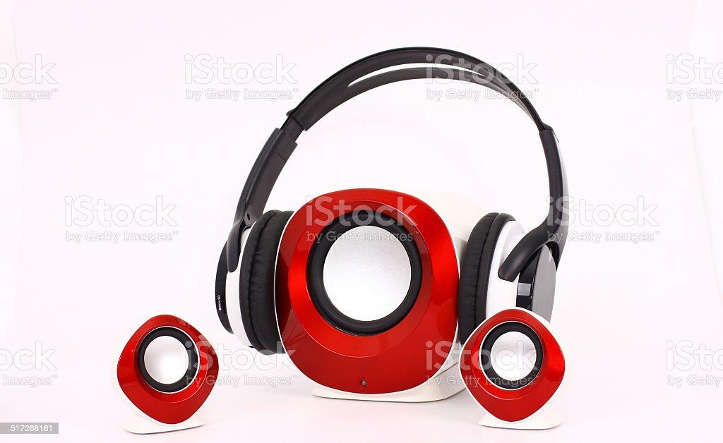 speaker headset stock photo