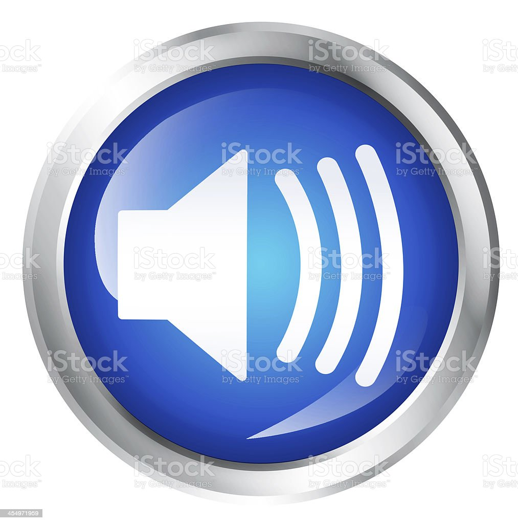 speaker icon stock photo