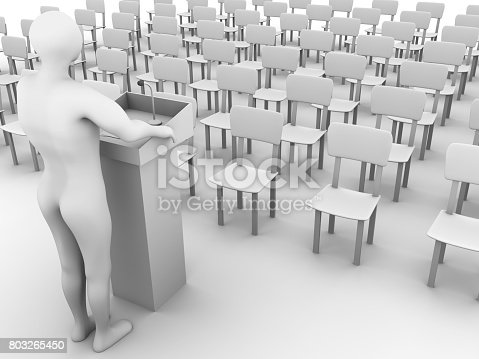 491577806 istock photo Speaker in the auditorium 803265450
