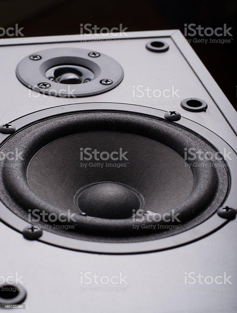 Speaker isolated  background stock photo