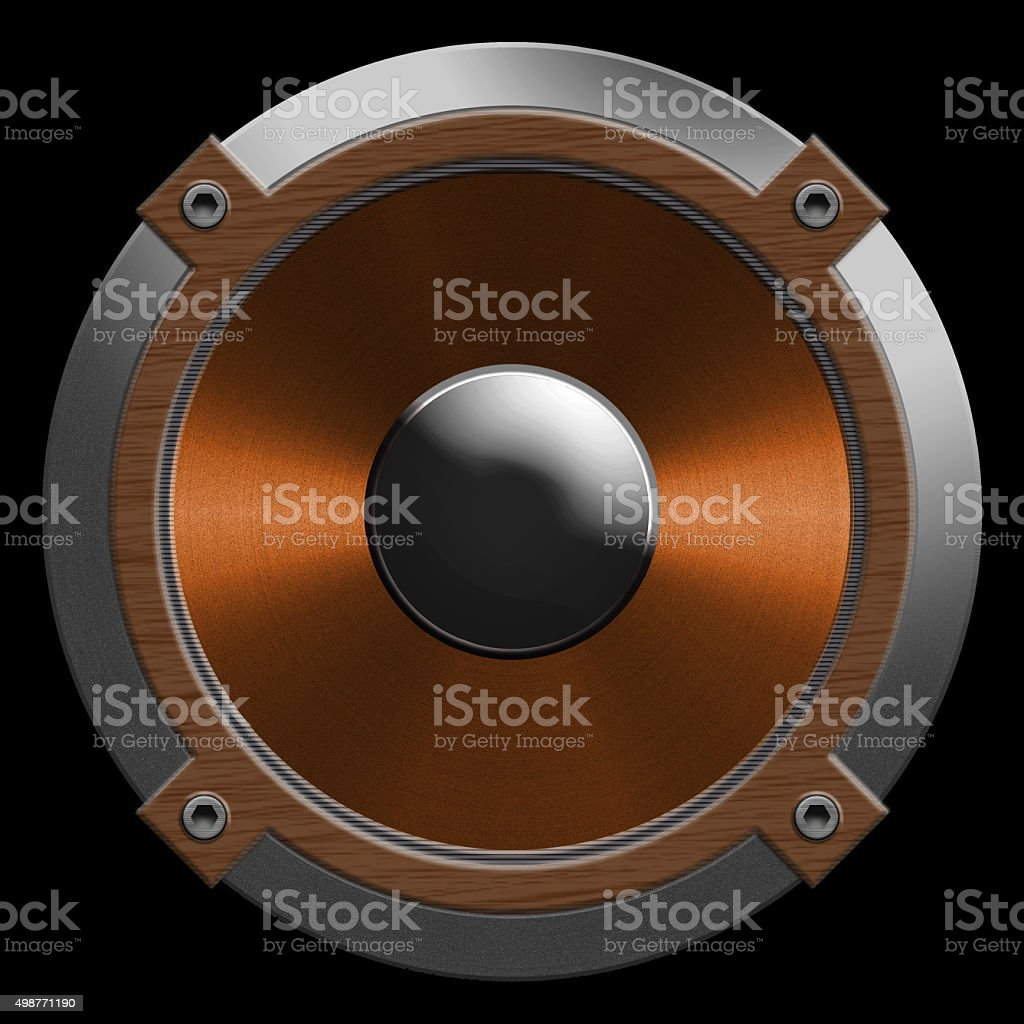 speaker isolated on a black background stock photo
