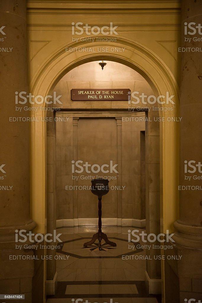 Speaker of the House Paul Ryan stock photo