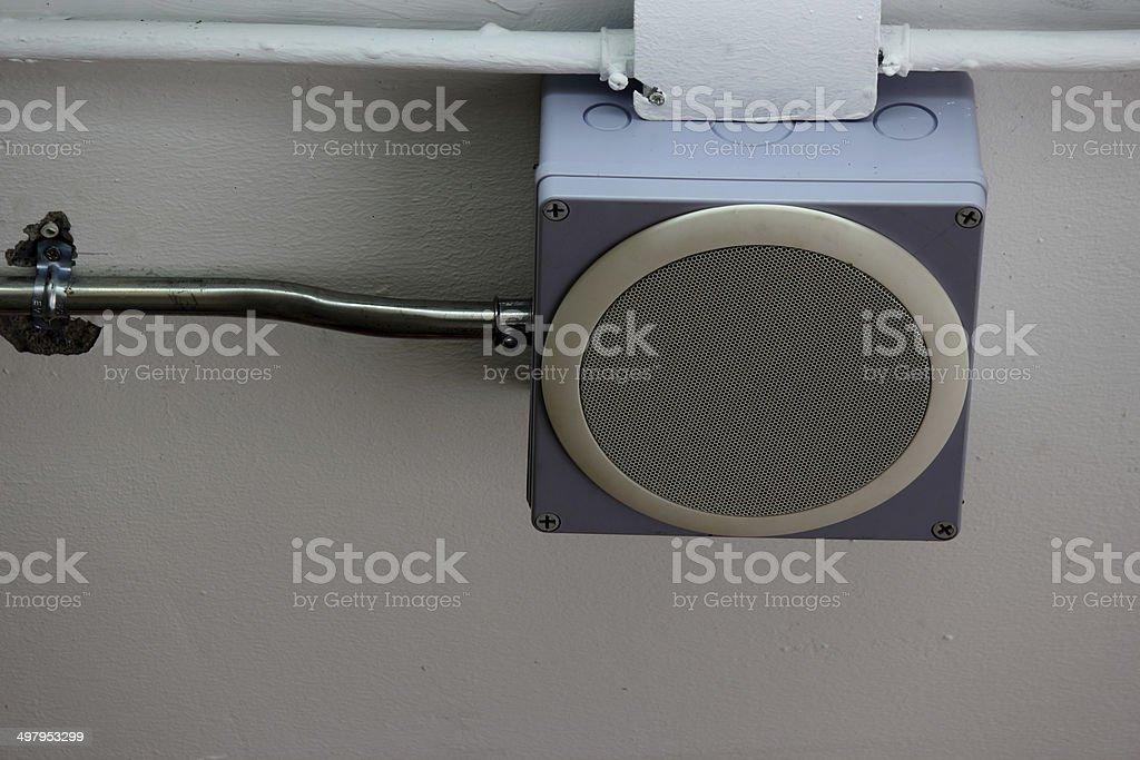 Speaker office ceiling stock photo
