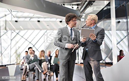 istock Speaker presenting at business seminar 673226036