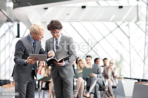 istock Speaker presenting at business seminar 673226480