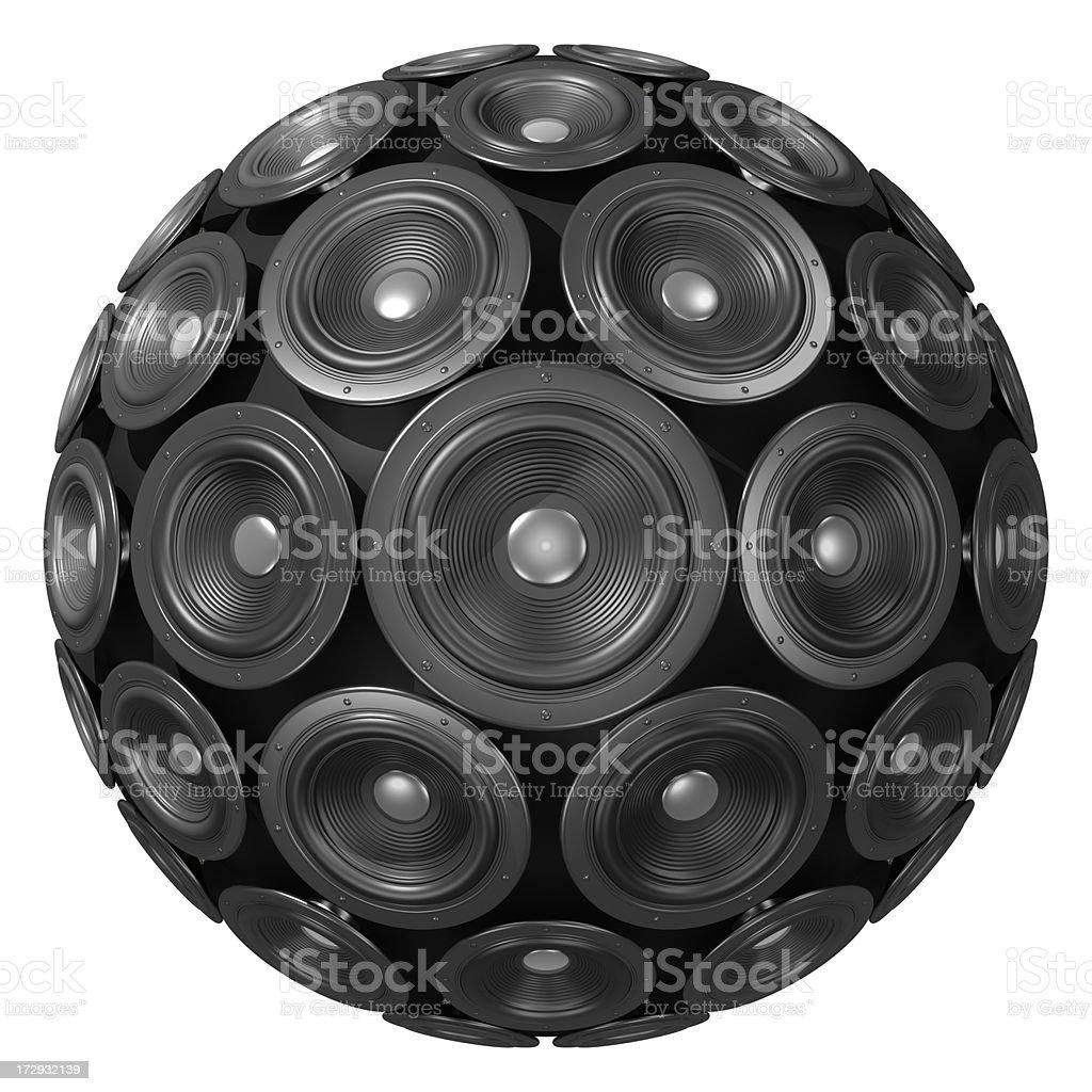 Speaker Sphere royalty-free stock photo