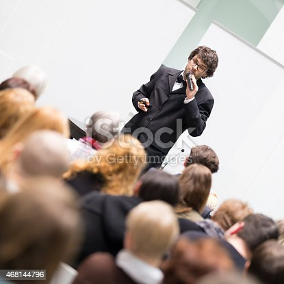 615804128 istock photo Speaker Talking at Business Conference. 468144796