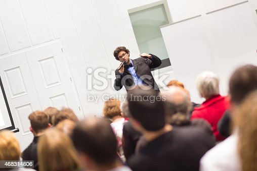 istock Speaker Talking at Business Conference. 468314606