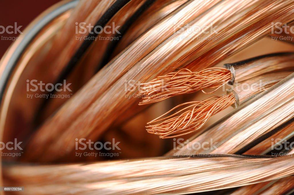 Conjunto de cable de altavoz - foto de stock
