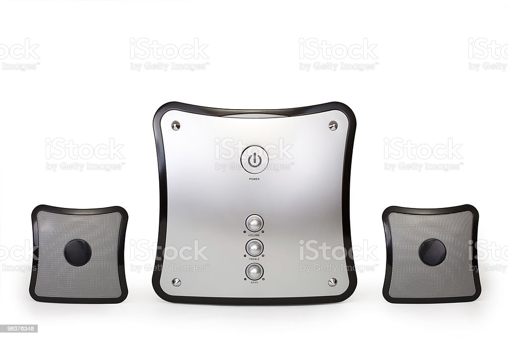 Speakers 2.1 royalty-free stock photo