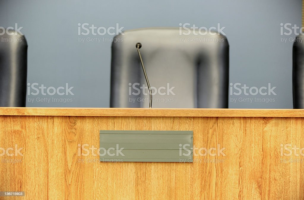 Speaker's chair royalty-free stock photo