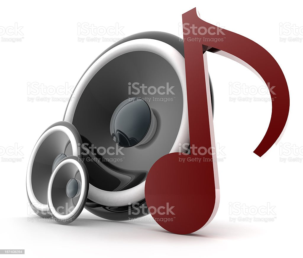 Speakers Musical Note royalty-free stock photo