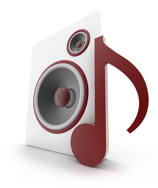 Speakers Musical Note stock photo