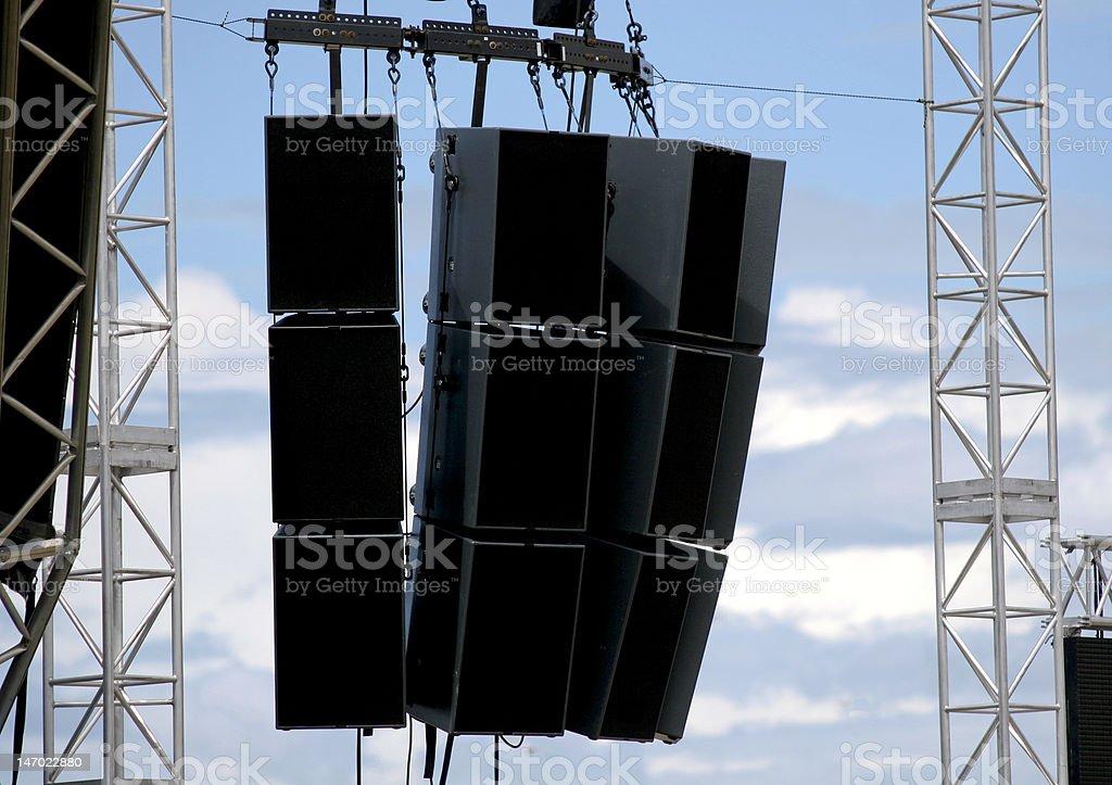 PA Speakers stock photo